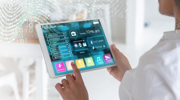 Tablette Smart Home avec CGI