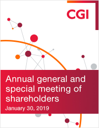 CGI Annual general and special meeting of shareholders