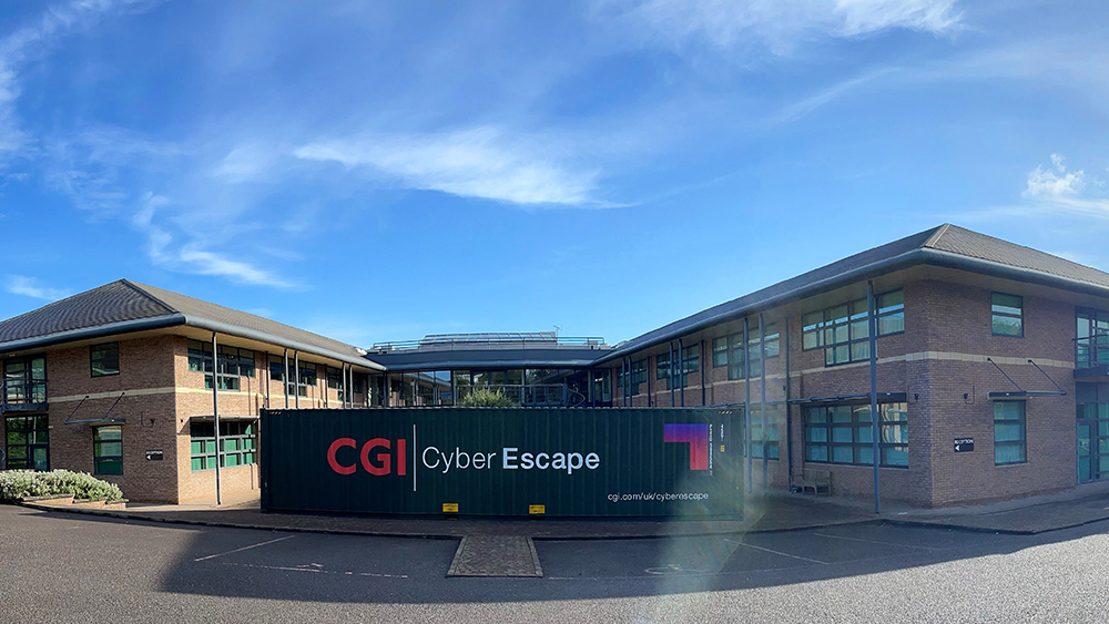 Cyber escape room outside office