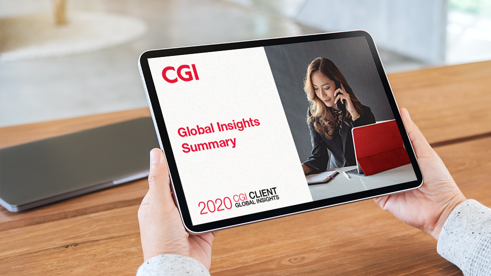 person holding a table - 2020 Client Global insights Summary