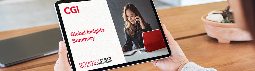 person consulting a table - 2020 Client Global insights Summary