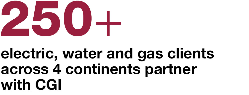 450+ electric, water and gas clients across Europe and North America partner with CGI