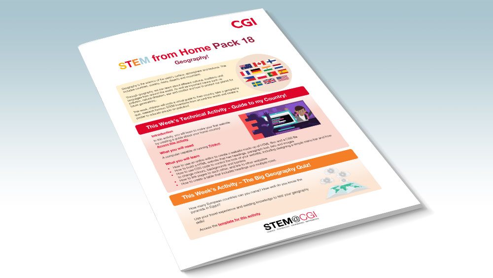CGI STEM from Home Pack 18 - Geography