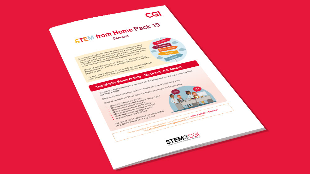 CGI STEM from Home Pack 19 STEM Careers