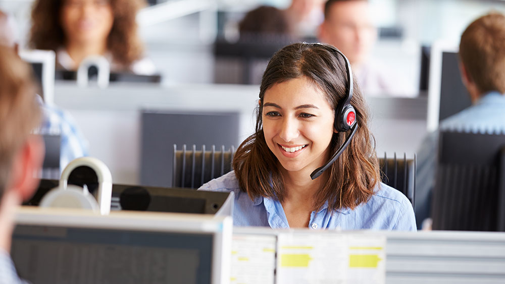 communications customer experience management office women headset