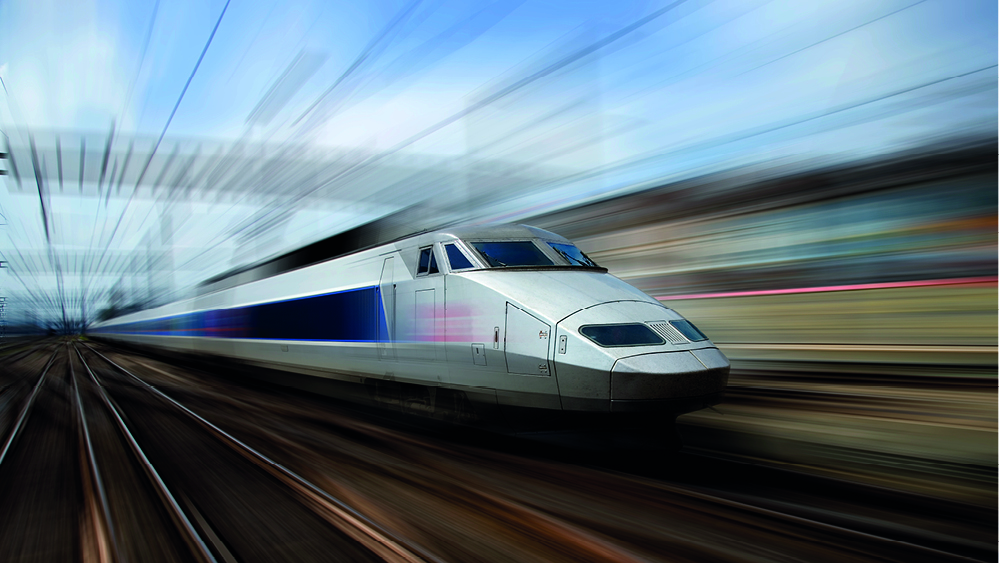 Un train en train de rouler