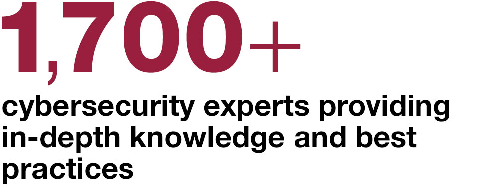 1,700 + cybersecurity experts providing in-depth knowledge and best practices