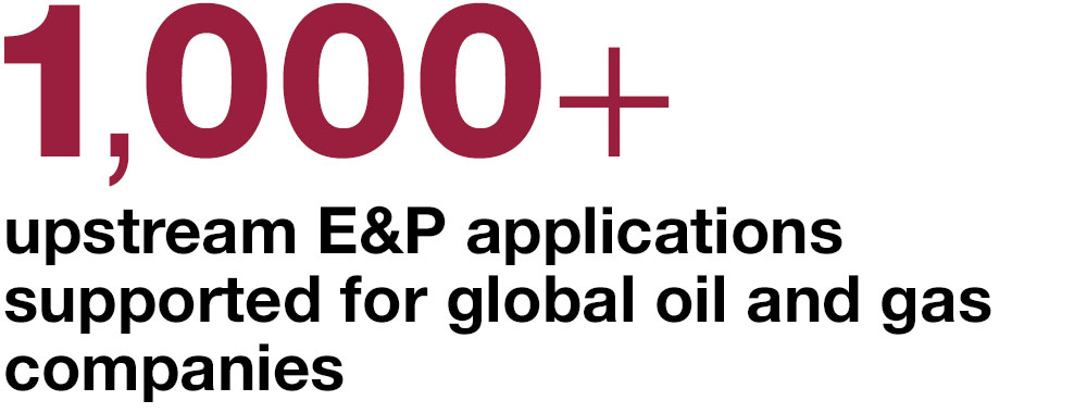 1000+ upstream E and P applications supported for global oil and gas companies