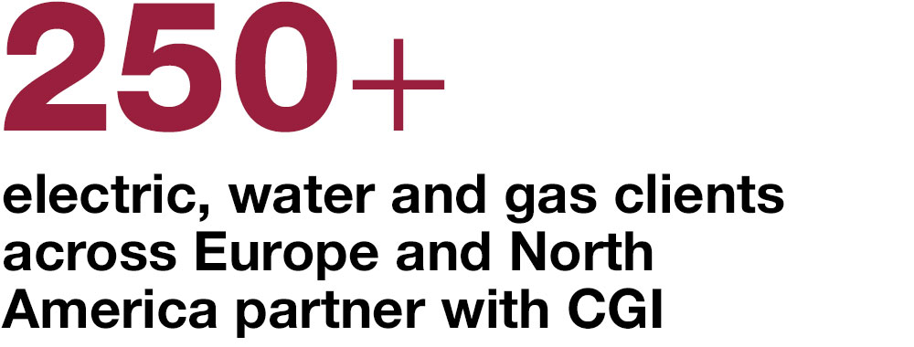 250 electric, water and gas clients across Europe and North America partner with CGI