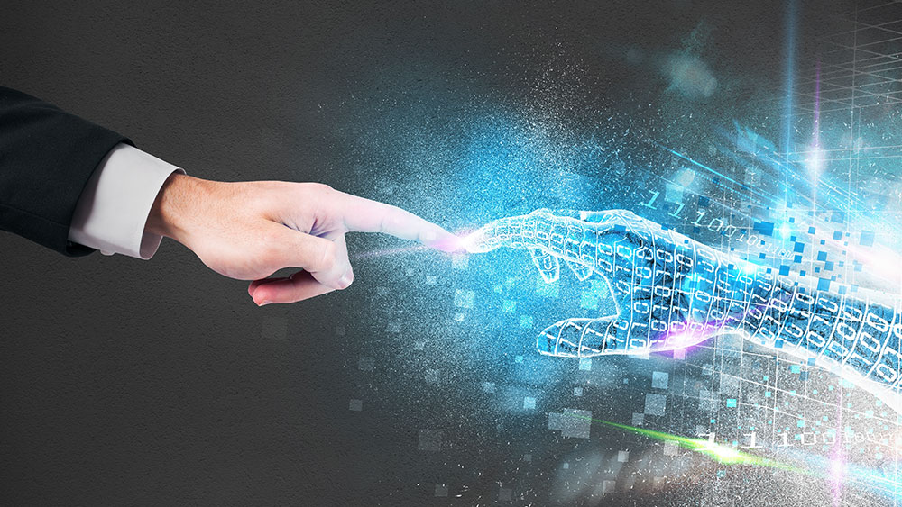 intelligent automation human and the virtual hand