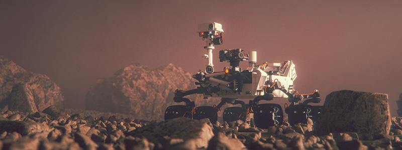 Mars Rover på Mars
