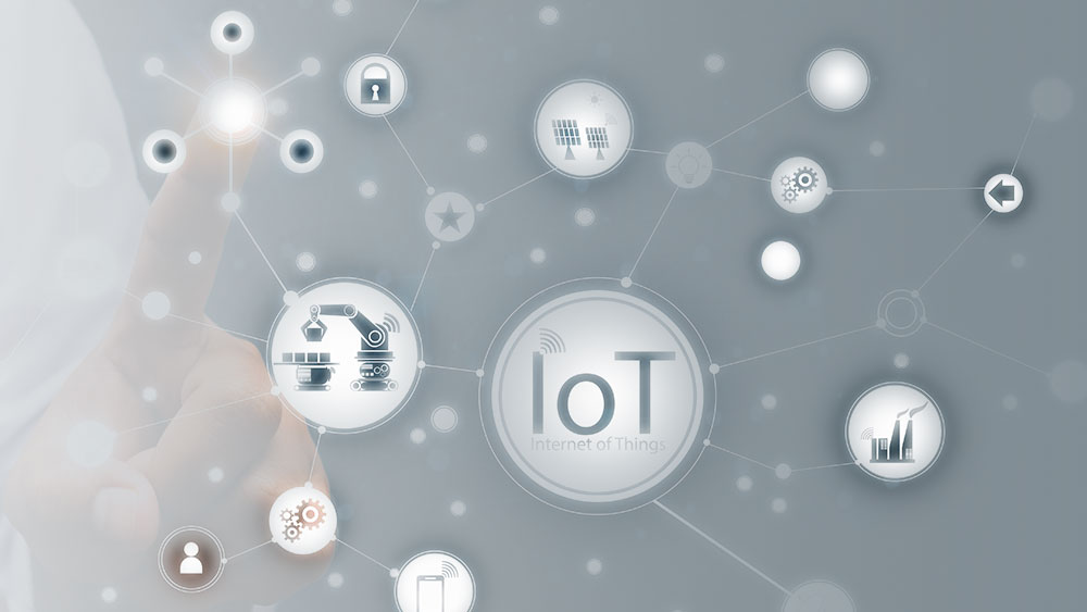 icons connected by internet of things