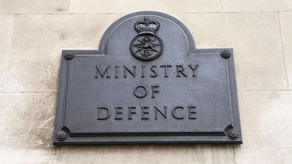 MOD plaque outside building