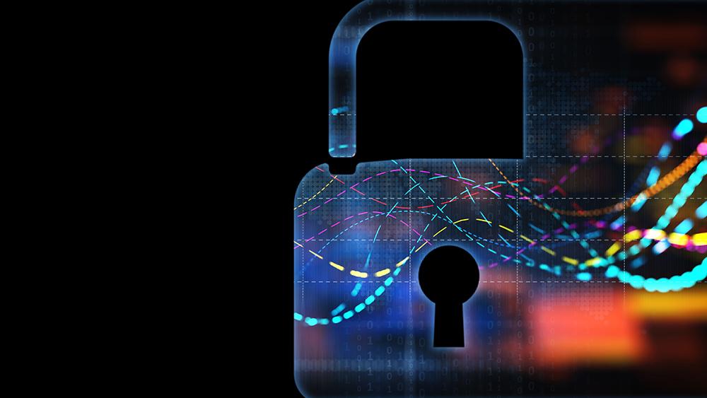 abstract padlock