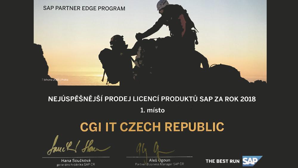CZ SAP award