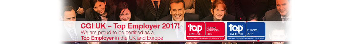 CGI certified as one of the Top Employers UK & Europe 2017
