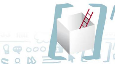 ladder in a box representing digital transformation