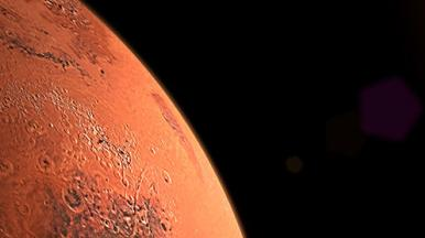 Image of Mars taken from a Space Satellite