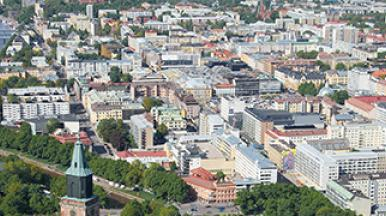 Smart and wise city of Turku Finland