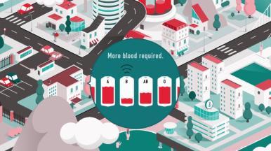 """Finnish Red Cross Blood Service """"Vein to Vein"""" Solution"""