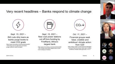 Global bankers may hold the key to climate change