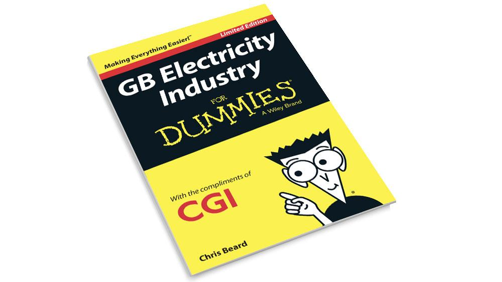 Front cover of the CGI GB Electricity Industry for Dummies