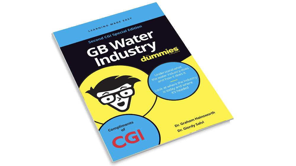 Front cover of the CGI GB Water Industry for Dummies