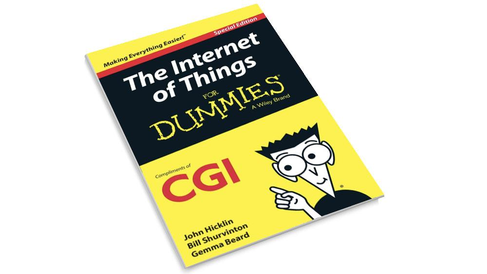 Front cover of the CGI Internet of Things for Dummies