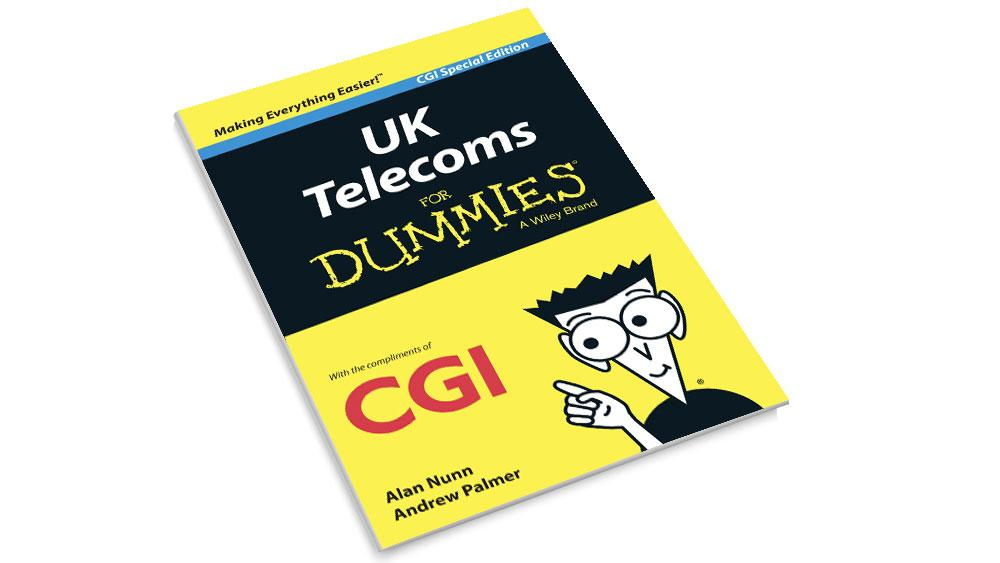 Front cover of the CGI UK Telecoms for Dummies Medium