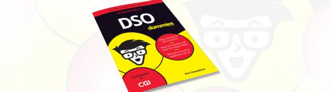 Front cover of CGI's new DSO for Dummies book