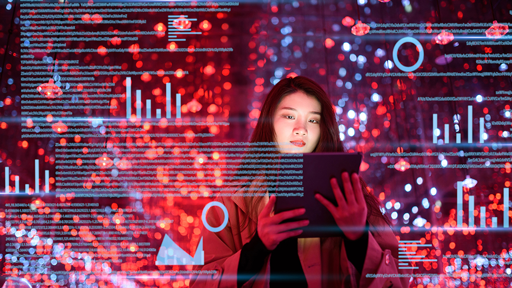 woman migrating data to cloud